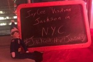 Officer JayCee Elf visits local boy awaiting heart transplant in NYC hospital