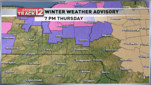 Winter Weather Advisory in effect