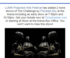 LUMA adds two more showtimes for Freckled Sky Saturday night