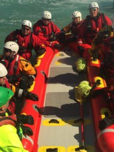 Locals participate in swift-water rescue training