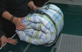 Local woman seeks volunteers and donations to continue making sleeping bags for those in need