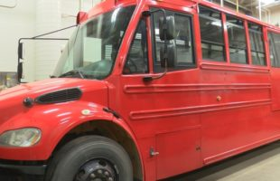 'Bright Red Bookmobile' getting ready to hit the road