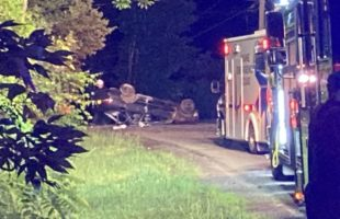 Emergency crews respond to one car rollover in Maine