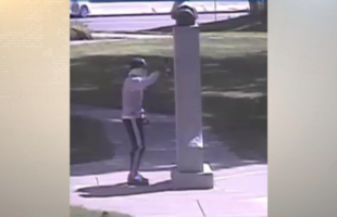 Photo released of person who defaced court house, Christopher Columbus statue